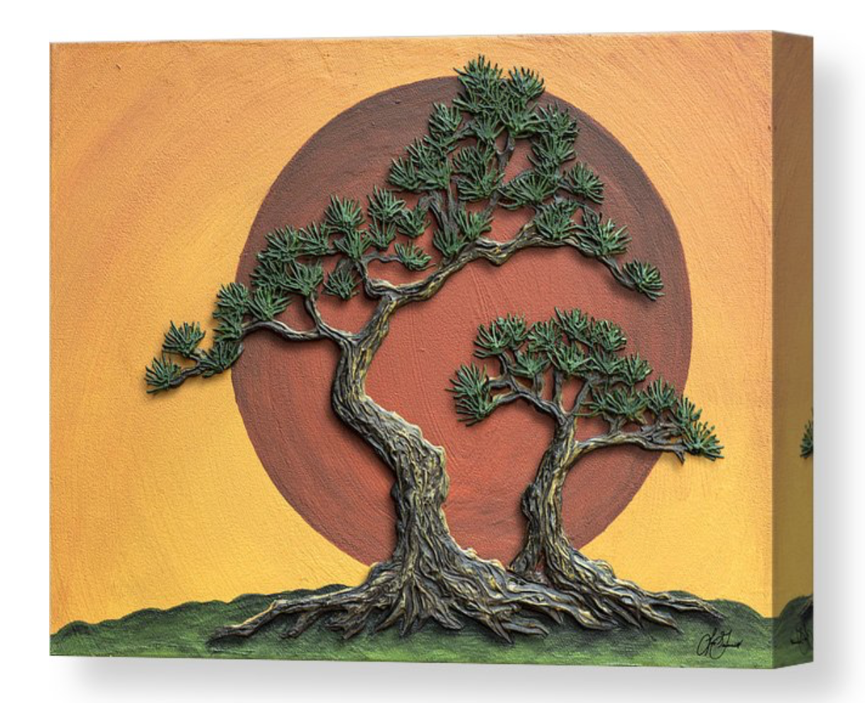 Impasto Painting - Bonsai 01