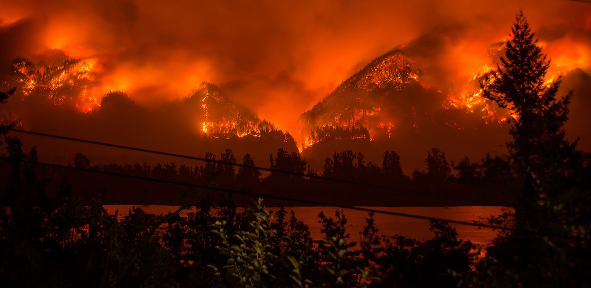 Eagle Creek Fire - Sept 5, 2017 by Tristan Fortsch